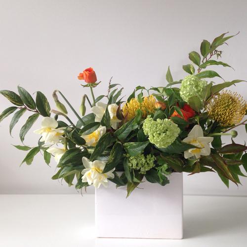 july-floral-daffodil-ranunculas-pincusion-leucothoe