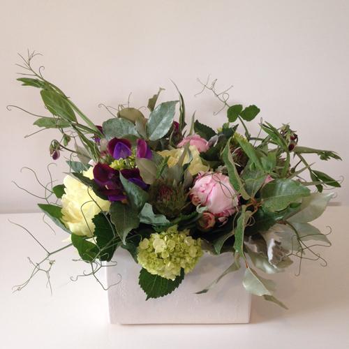 july-floral-peony-sweet-pea-vine-hydrangea-artichoke